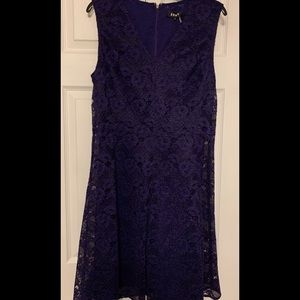 DKNY Dark Purple Lace Dress